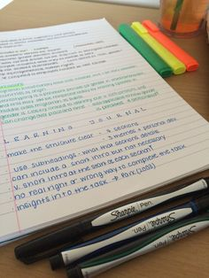10.12.2014, 12:46pm // these are two of the six pages of lecture notes I took in yesterday's class! I use black ink for main body, green for conclusions and blue for assignment information. I use...