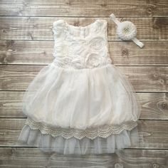 Hey, I found this really awesome Etsy listing at https://www.etsy.com/listing/250227244/soft-white-flower-girl-dress-rosette