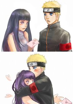"""NaruHina.  Do you see his face?!  He's thinking, """"How did I get so lucky?"""" #naruto"""