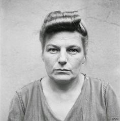 Mugshots of Female Nazi Concentration Camp Guards While Awaiting Trial in 1945  Herta Ehlert: sentenced to 15 years imprisonment