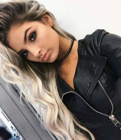 pinterest // shannonleftwich hair blonde brunette long hair curly wavy makeup beauty eyebrows eyes lips fashion choker style clothes https://www.facebook.com/shorthaircutstyles/posts/1720107731613000