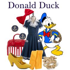 """""""Dapper Day 2013: Donald Duck"""" by bleeanco on Polyvore"""