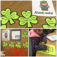 Shamrock Shout-Outs First Grade Teachers, 3rd Grade Classroom, New Teachers, Primary Classroom, My Teacher, Teacher Must Haves, St Patrick Day Activities, Morning Meetings, Free Lesson Plans