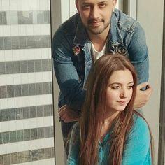 Beautiful couple ✨ #atifaslam #aadeez #saraatif #pakistaniindustry