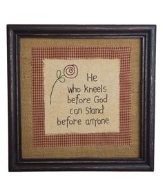 This 'He Who Kneels' Framed Wall Art by Pearson's Simply Primitives is perfect! #zulilyfinds