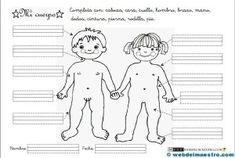 Partes del cuerpo para niños Op Art, Education, Comics, Memes, Homeschooling, Google, Boyfriend, Crochet, Human Body