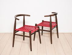 Pair of Bull horn back side chairs by VanderMostModern on Etsy