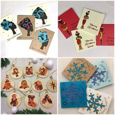 African inspired cards gifts jewellery & by Colourshotcards Christmas Images, Christmas Greetings, Christmas Traditions, African Christmas, Fabric Cards, Gold Pattern, Printing On Fabric, Christmas Cards, Merry