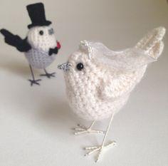 Wedding cake topper dove-like love birds by Jose Heroys Fibre Artist
