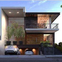 nice Fachada de sobrado com entrada de garagem em rampa                              ... by http://www.top10-home-decor-ideas.xyz/modern-home-design/fachada-de-sobrado-com-entrada-de-garagem-em-rampa/