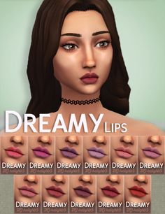 """400+ Followers Gift Hello again :) I was supposed to be doing this for 300 followers but an extra 100+ of you lovely people turned up before I was finished! <3 So here is my new mini """"collection"""" Dreamy: Maxis Match (ish) eyes and more matte lipsticks. The eyes have 2 versions, come in all EA/Maxis colours and you can have them as Face Paint contacts and/or Default Replacements :) I really hope you like them, please tag me in your post so I can see if you use them and I'll reblog! Also as…"""