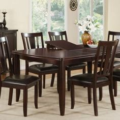 Black Dining Room Table With Leaf