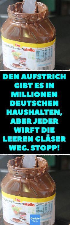 Den Aufstrich gibt es in Millionen deutschen Haushalten, aber jeder wirft die leeren Gläser weg. Stopp! Bastelideen mit Nutella. #nutella #glas #altglas #upcycling #diy #bastelideen