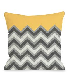 Take a look at this Mimosa Chevron Square Pillow by OneBellaCasa on #zulily today! $32.99