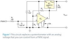 Como controlar um LM317 com um sinal PWM