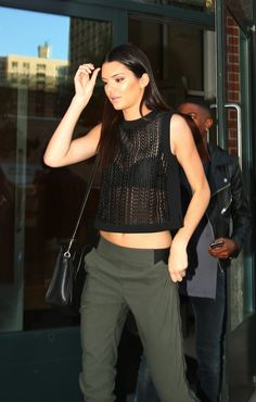 08.28.14: Kendall leaving Kanye's apartment in Soho, NY