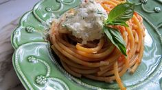 Bucatini with Simple Sauce and Herbed Ricotta | Squash Blossom KitchensSquash Blossom Kitchens