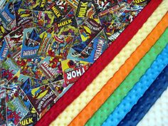 Marvel Vintage Comics Superheroes Baby Quilt by QuiltingWarmWishes