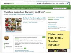 """Chef LeeZ Cooking School Review #335 """"Excellent Class"""" Now 335 reviews in under 3 years. Clipped from www.tripadvisor.com #cooking #school #class #Thailand #Bangkok #culinary arts"""