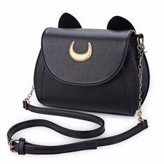Intercontinental Apparel and Accessories: Summer Sailor Moon Handbag Black Cat…