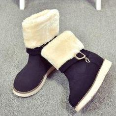 #Gamiss - #Gamiss Buckle Strap Snow Boots - AdoreWe.com