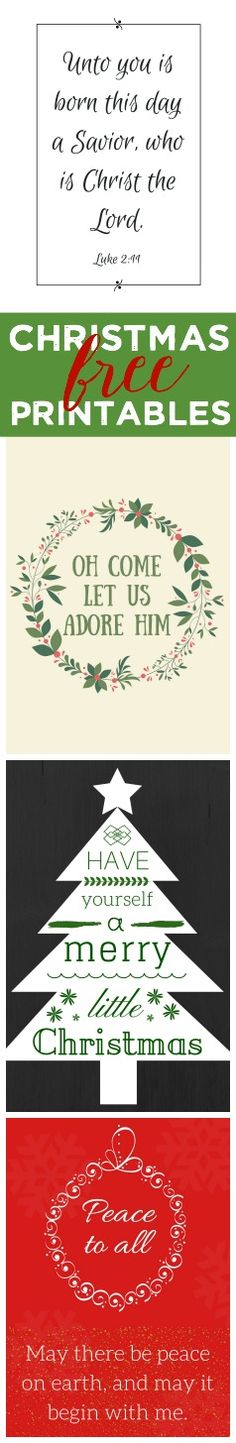 Four free Christmas printables (8x10)