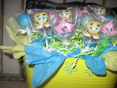Spongebob cake pops by CakepopsandCookies on Etsy, $30.00