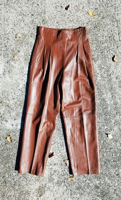 Hey, I found this really awesome Etsy listing at https://www.etsy.com/listing/486963363/vintage-leather-highwaist-pants