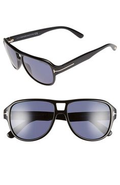 Tom Ford 'Dylan' 57mm Aviator Sunglasses