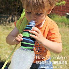 Messy Little Monster: Bubble Snake Blower for Kids