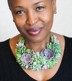 Succulents are everywhere these days — even around the most fashionable necks. #etsyjewelry