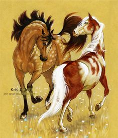Dance by jen-and-kris on DeviantArt Horse Drawings, Cute Animal Drawings, Animal Sketches, Art Drawings, Cute Horses, Pretty Horses, Beautiful Horses, Horse Sketch, Horse Artwork