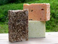 Coffee Soap, Tomato Basil Soap, Cucumber Soap