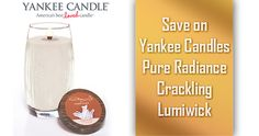 Save on Yankee Candles Pure Radiance Crackling Lumiwick