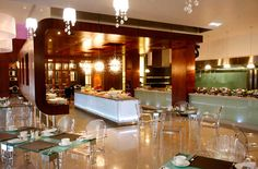Elegantly styled dining area perfect for brunch at the African Pride Crystal Towers Hotel and Spa in Cape Town
