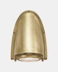 Outdoor Sconces, Home Lighting, Industrial Style, Wall Sconces, Wall Lights, Bulb, Ralph Lauren, Bronze, Detail