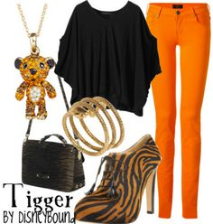 Tigger, from Winnie the Pooh.  I would not wear those pants, but I like them.