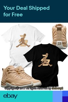 e5b0e54eb608fe CUSTOM T SHIRT MATCHING STYLE OF Air Jordan XII Retro 12 Vachetta Tan JD  12-3-4