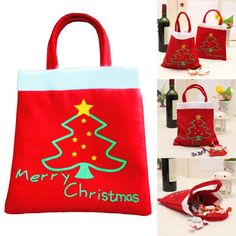 Cheap gift bags retail, Buy Quality bag directly from China gift bag size Suppliers: Creative Christmas Tree Pattern Santa Claus Candy Bag Handbag Home Party Decoration Gift Bag Christmas Supplies Gift box Creative Christmas Trees, Christmas Trees For Kids, Christmas Tree Pattern, Christmas Gift Bags, Merry Christmas, Christmas Candy, Christmas Christmas, Xmas Tree, Christmas Presents