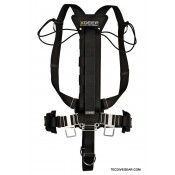 stealth 20 with 8 side mount diving harness by x deep
