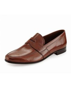 Smooth Leather, Light Browns, Penny Loafer, Style Men, Prada, Men's Shoes,  Ps, Fresh, Cap D'agde
