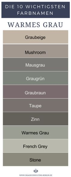 Warm shades of gray are gray-beige mushroom mouse gray gray-green greyish brown taupe . Grey And Beige, Warm Grey, Shades Of Grey, Gray Green, House Color Schemes, House Colors, Room Colors, Wall Colors, Gris Taupe