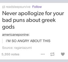 Okay guys I don't Apollo-gize for my HOO puns