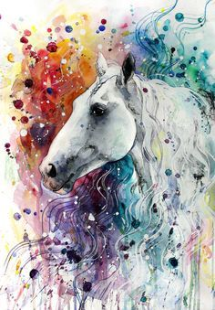 arteWOODS Colorful Horse Canvas Wall Art Modern Horse Head Watercolor Canvas Artwork Steed Portrait Contemporary Wall Art for Home Decor Bedroom Living Room Decoration Framed Ready to Hang 12 Watercolor Horse, Watercolor Canvas, Watercolor Animals, Watercolor Paintings, Horse Drawings, Animal Drawings, Art Drawings, Horse Artwork, Canvas Artwork