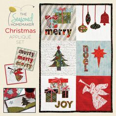 PLEASE NOTE: This is a PDF appliqué pattern set which includes instructions, appliqué templates, and SVG files (Silhouette and Cricut owners) for you to create your own Chrismas Appliqué designs and cut outs. The Christmas Appliqué Set is designed for you to create Christmas vignettes. The pattern includes 6 Sample Layouts for inspiration. The set includes reversed lettering which will make the appliqué process faster. If you are a quilter, the templates are designed to fit nicely into 10 x…