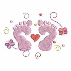 Newborn Feet machine embroidery design