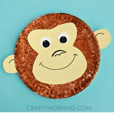 Paper Plate Monkey Kids Craft Idea - Crafty Morning - teach u0027eyu0027 spelling as inu2026 & 25+ Paper plate crafts | Pinterest | Paper plate crafts Paper plate ...