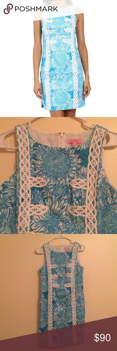 Lily Pulitzer Mirabelle Shift Dress Size 2, in good condition! Lily Pulitzer Dresses