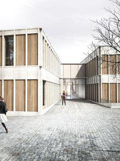 wooden blinds | facade inspiration | modular facade | minimal architecture | architecture inspirations