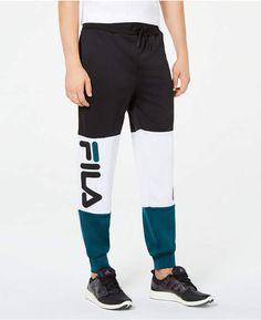 0552cb0b7915 Fila Men's Kennedy Colorblocked Joggers Gym Pants, Jogger Pants, Mens  Joggers, Sweatpants,